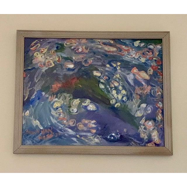 "Carpe Diem 15""x13"""" Original Oil Paintings Framed Nancy T. Van Ness Artist… Raw paint on the palette…where will it take..."