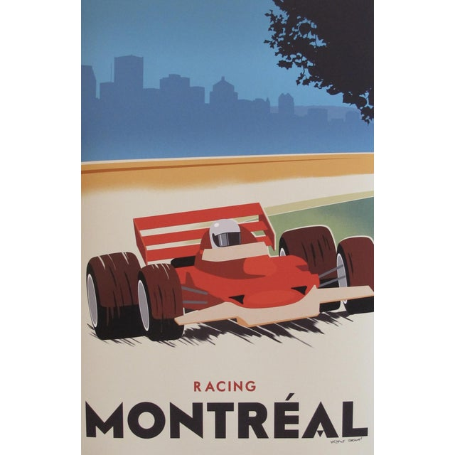 Contemporary, Hand-Signed Montreal Racing Poster For Sale
