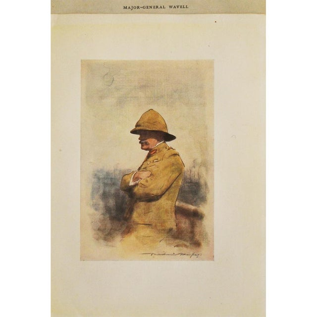1900 - 1909 1901 Safari Style Original Portrait of Major General Wavell by M. Menpes For Sale - Image 5 of 8