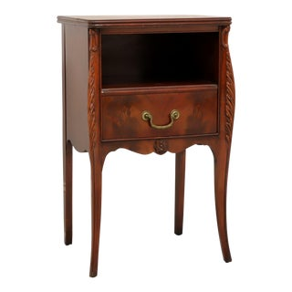 Drexel French Provincial Flame Mahogany Nightstand For Sale