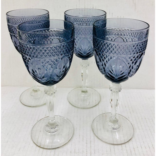 Early 20th Century Set Vintage Glass Goblets For Sale - Image 5 of 5