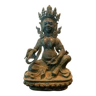 Bronze Tibetan Jambhala God of Wealth Statue For Sale