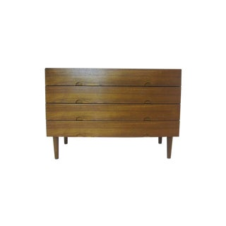 Teak Half Moon-Pull Credenza Chest For Sale