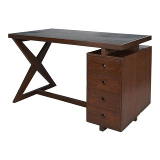 1960s French Pierre Jeanneret ChandigarhTeak Desk For Sale