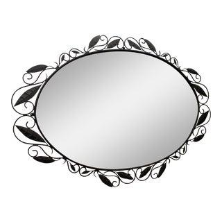 "Large 70"" Oval Oversized Italian Designer Wrought Iron Wall/Foyer Mirror"