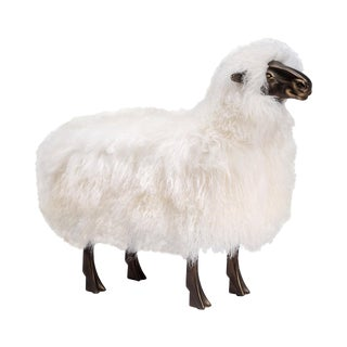 Phillippe Sheep Sculpture - Ivory For Sale
