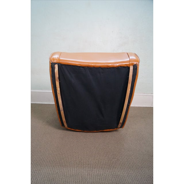 Unusual Italian Leather Rocking Lounge Chair - Image 6 of 10