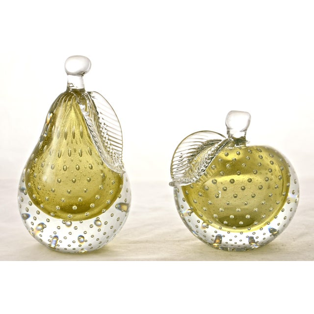 Murano Gold Murano Apple & Pear Bookends - A Pair For Sale - Image 4 of 7