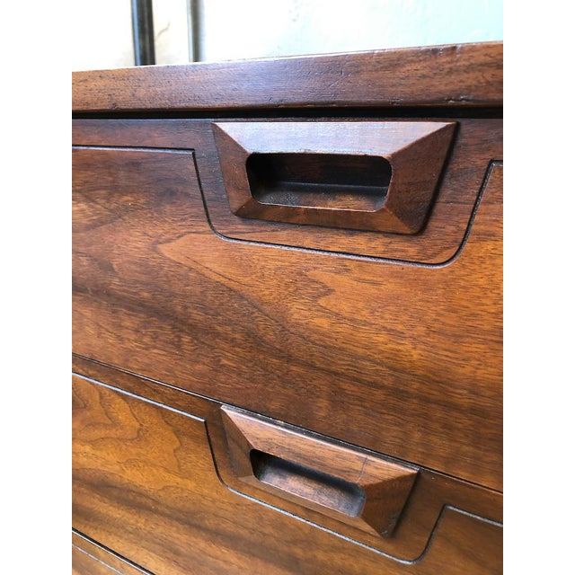 Brown Mid Century Walnut Credenza Style Lowboy Dresser 1960's For Sale - Image 8 of 13