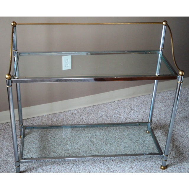 Vintage Chrome & Brass Console - Image 4 of 11