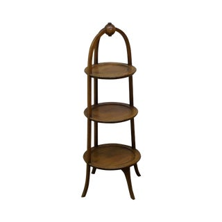 Biggs Mahogany Regency Style 3 Tier Muffin Stand For Sale