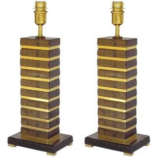Italian Fabio Ltd Impero Table Lamps - a Pair For Sale