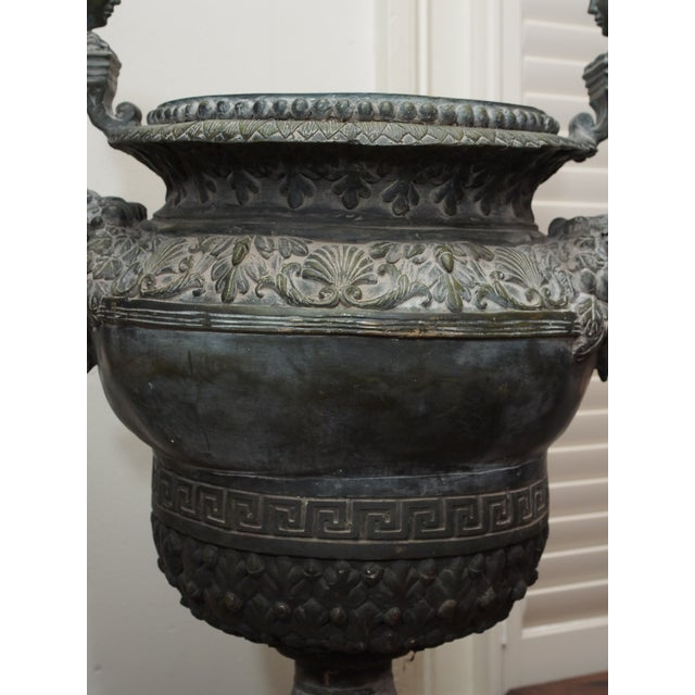 Baroque Louis XIV Style Bronze Garden Urn For Sale - Image 3 of 7