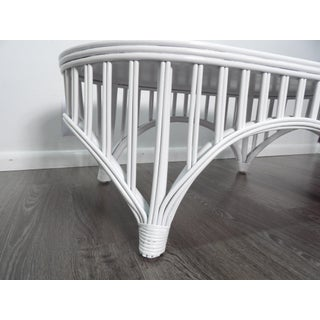 Boho Chic Oval Rattan Cocktail / Coffee Table With Bent Bamboo Preview