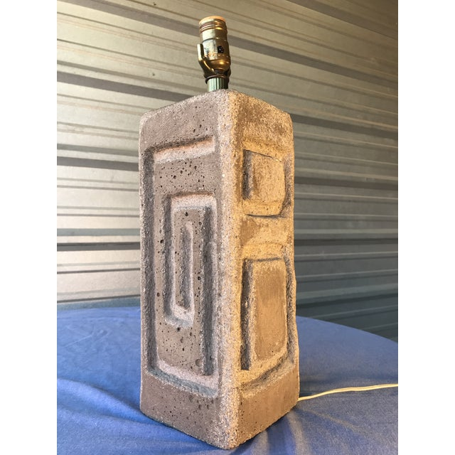 Sirmos Sirmos Style Mid-Century Modern Rock Stone Table Lamp For Sale - Image 4 of 6