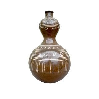 Mid-Century Native Ceramic Pottery Vessel Jar For Sale