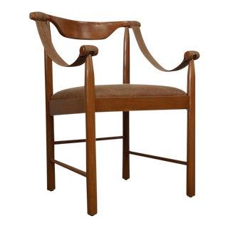Safari Danish Mahogany Chair For Sale