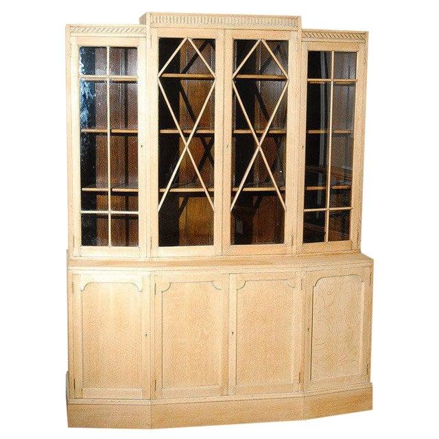 1930s Art Deco Large Oak Bookcase by Heals For Sale