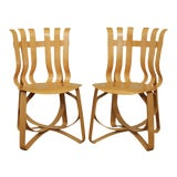"Image of Frank Gehry for Knoll Bent Wood Pair ""Har Trick"" Chairs For Sale"