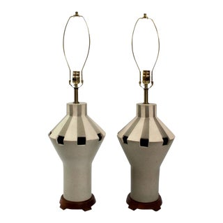 1960s Bitossi Ceramic Table Lamps - A Pair