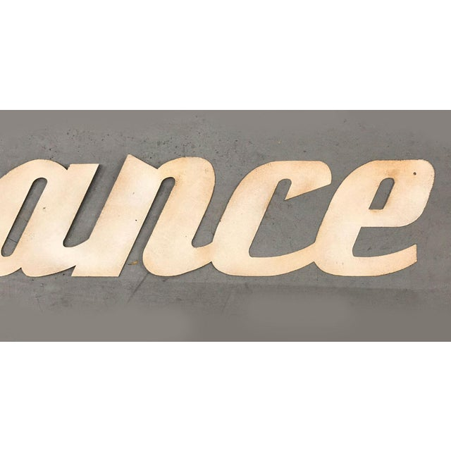 """1960s Mid-Century Modern """"France"""" Signage From Travel Agency For Sale - Image 5 of 9"""