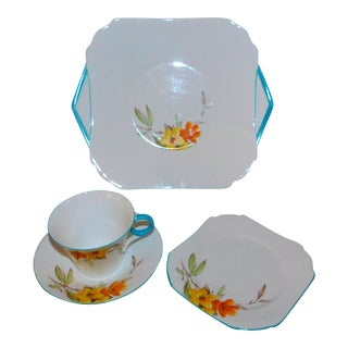 1930s Shelley China Luncheon Set - Set of 4 For Sale