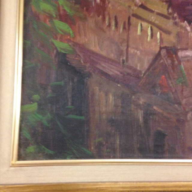 Italian Original Italy Landscape Oil Painting For Sale - Image 3 of 7