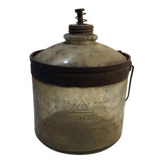 1919 Antique Smudge Pot For Sale