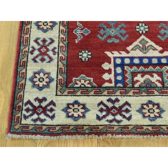 2010s Wool Handmade Tribal Design Kazak Runner- 2′8″ × 9′9″ For Sale - Image 5 of 12