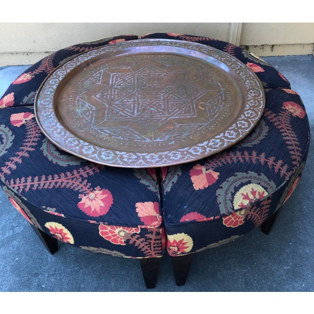 Traditional Lee Industries Wedge Ottoman For Sale - Image 3 of 9