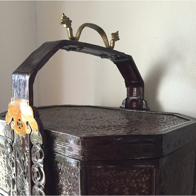 Chinoiserie 3 Tier Wedding Basket with Greek Key - Image 5 of 8