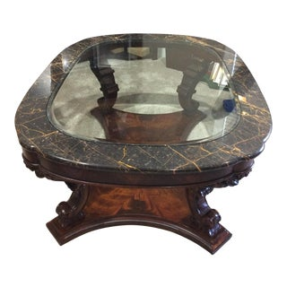 Henredon Nachez Solid Mahogany With Marble and Glass Top