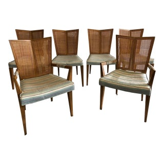 1950s Arts and Crafts Michael Taylor for Baker V-Back Dining Chairs - Set of 6