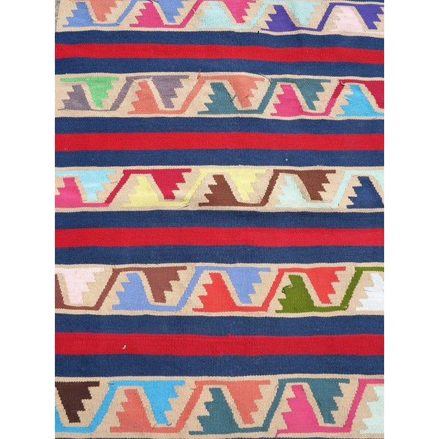 Vintage Turkish Kilim Runner Rug For Sale In Raleigh - Image 6 of 10