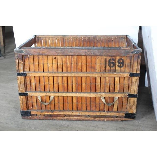 Large antique American Industrial wood crate. We have more available.