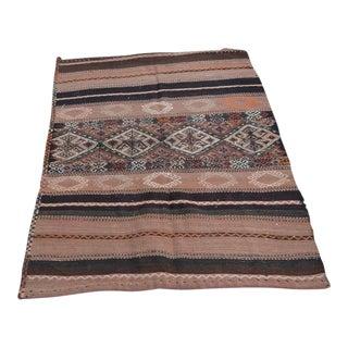 Vintage Anatolian Handmade Turkish Carpet - 3′5″ × 4′11″