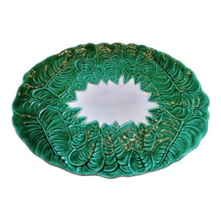 Late 20th Century Italian Majolica Serving Platter For Sale