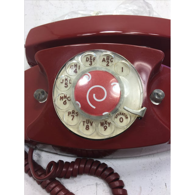 Vintage Red Princess Rotary Dial Telephone - Image 11 of 11