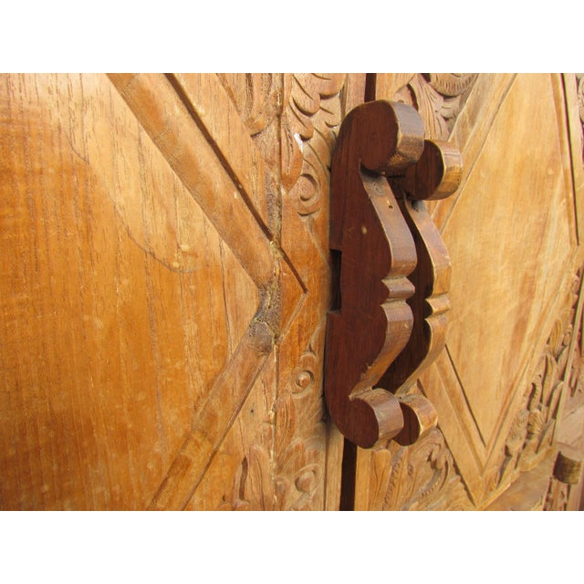 Spanish Carved Armoire - Image 5 of 8