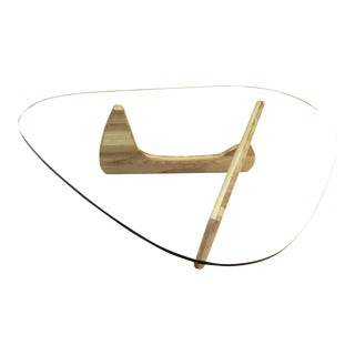 Signed Isamu Noguchi Herman Miller Blonde Based Coffee Table