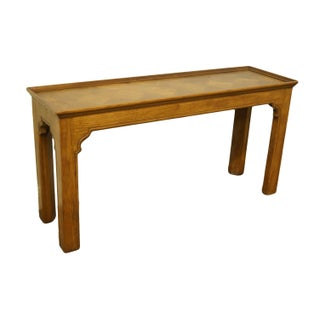 20th Century Country Henredon Furniture Solid Oak Sofa Table Preview
