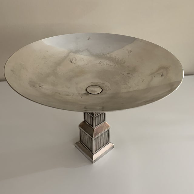 Green Vintage Gucci Silver Plate Centerpiece Bowl For Sale - Image 8 of 13