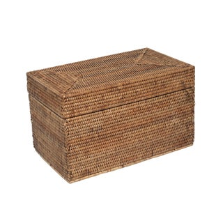 Artifacts Rattan Rectangular Hinged Chest