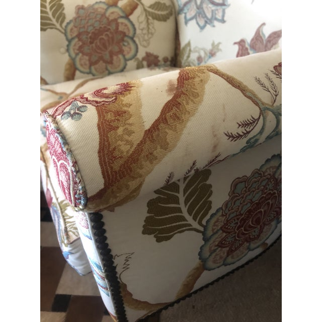Georgian Style Wing Chairs by William Switzer -A Pair For Sale - Image 10 of 13