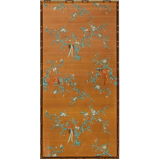 Chinese Botanical Silk Panel For Sale