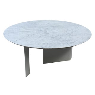 Custom White Marble Outdoor Dining Table For Sale