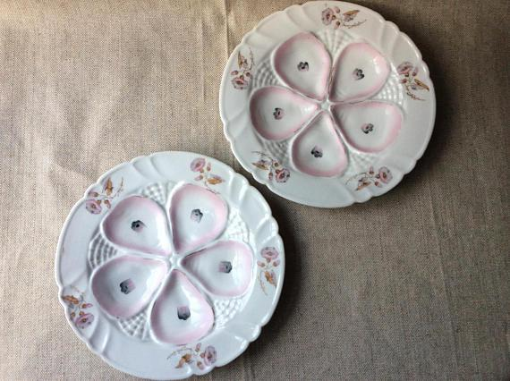 Antique Limoges French Porcelain Oyster Plates - a Pair - Image 4 of 9  sc 1 st  Chairish & Antique Limoges French Porcelain Oyster Plates - a Pair | Chairish