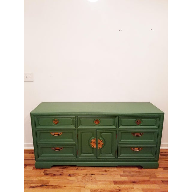 Green Campaign Style Dresser - Image 6 of 6