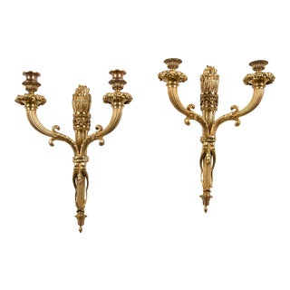 1900s Caldwell Sconces With Original Gilding and Patina - a Pair For Sale