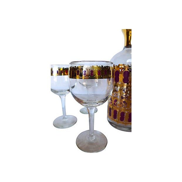 Mid Century 6-Piece Bar Set with Carafe - Image 6 of 7